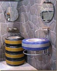 tires toilet